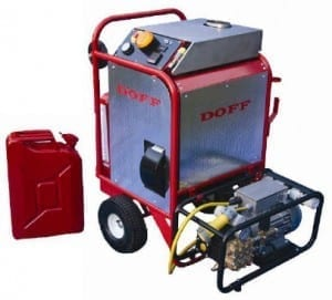 The DOFF Integra steam cleaner for asbestos roof cleaning.