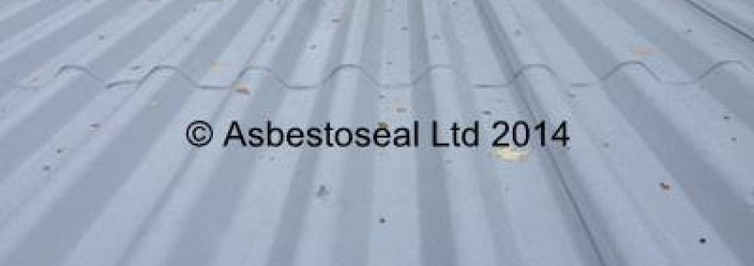 Completed asbestos roof cleaning and coating job using DOFF steam cleaning method and Asbestoseal asbestos roof coating